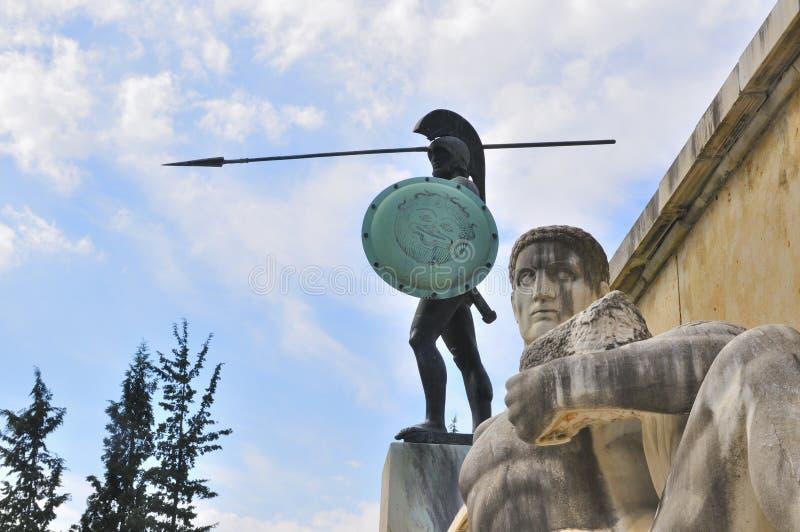 Statua Leonidas, obrazy stock