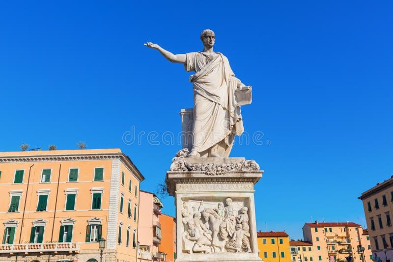 Statua Leopold II w Livorno, Włochy obrazy stock