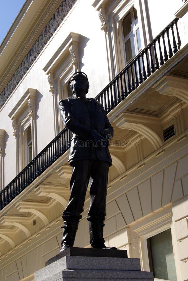 Statua Lotniczy szef marszałka Sir Keith Parkujący w Piccadilly, Londyn, Anglia, Europa obrazy royalty free
