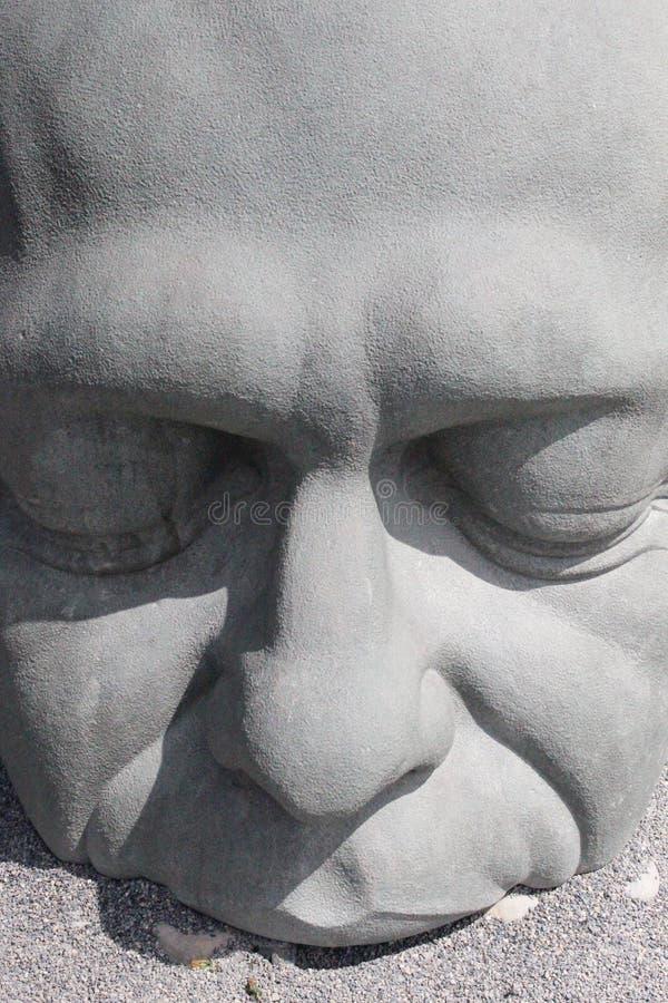 Statua mężczyzna w Canmore Alberta fotografia stock