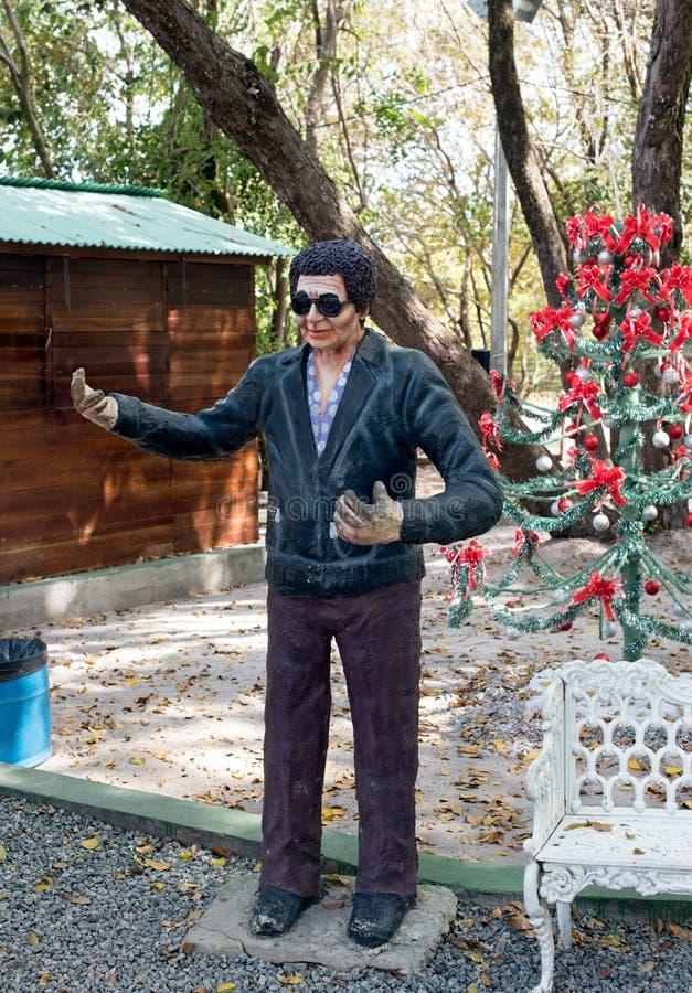 Statua mężczyzna z okularami przeciwsłonecznymi zdjęcia stock