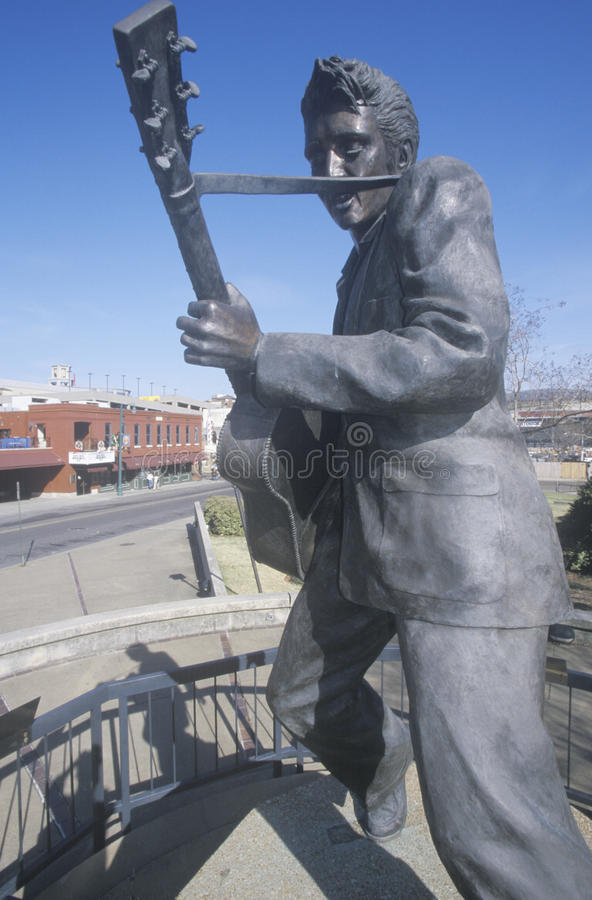 Statua młody Elvis Presley na Beale ulicie, Memphis, TN fotografia stock