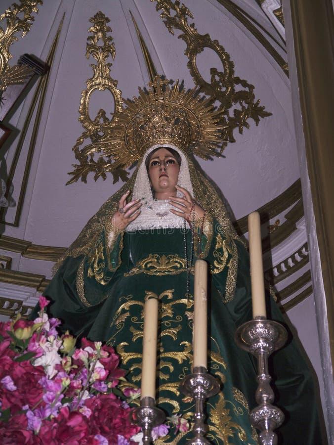 Statua madonna w Nerja Hiszpania zdjęcie stock