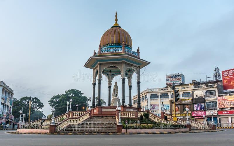 Statua Maharaja i pomnik, Maysore, India zdjęcia stock