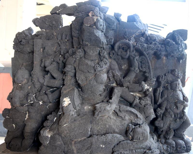 Statua majapahit królestwo w muzealnym Trowulan fotografia stock