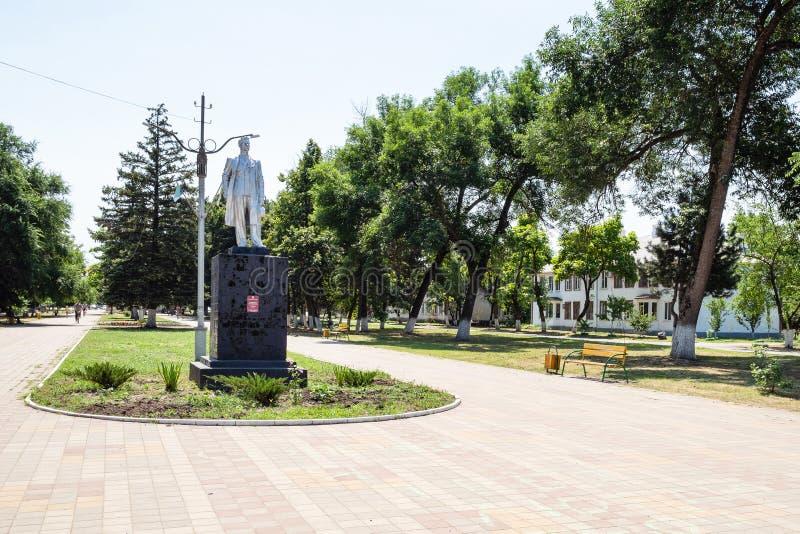 Statua maksyma Gorky na bulwarze w Akhtyrskiy fotografia royalty free