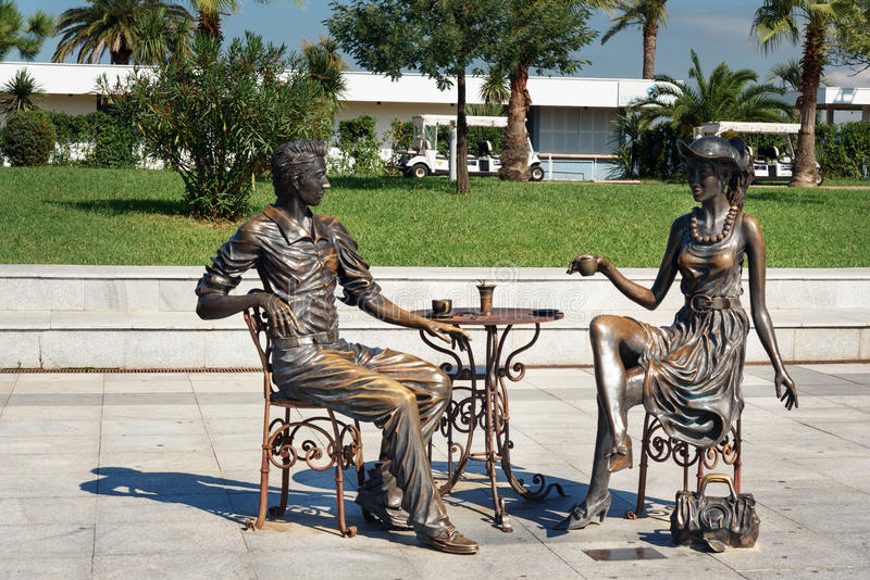 Statua me, voi e Batumi nel parco di miracolo Batumi, Georgia immagine stock libera da diritti