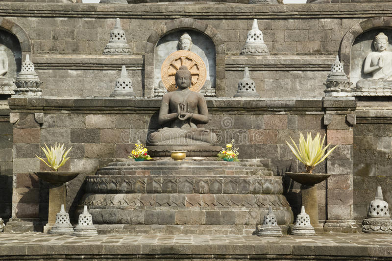 Statua messa di Buddha in Bali, Indonesia immagini stock libere da diritti