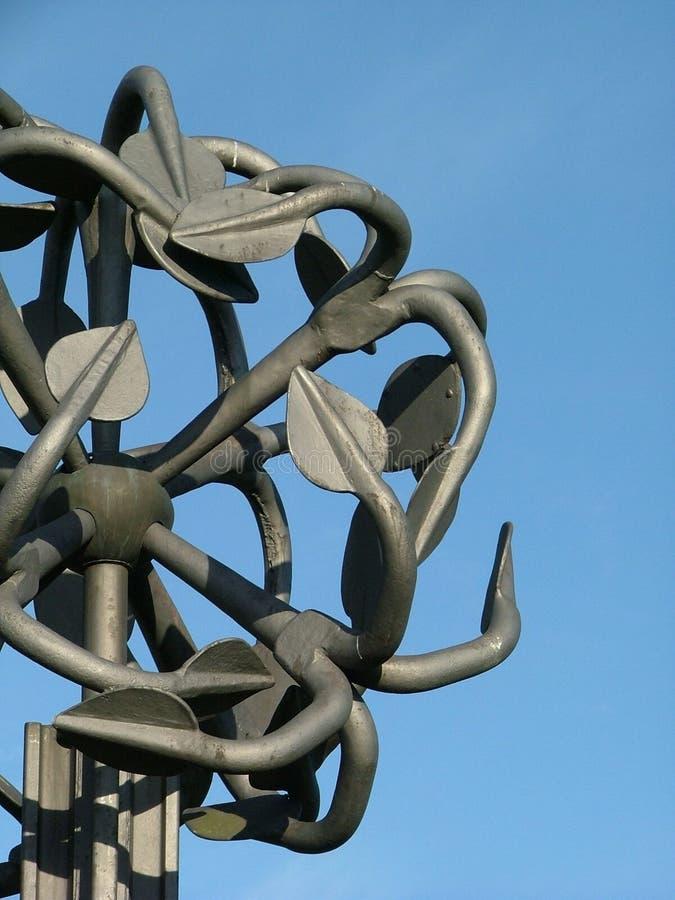 Statua metallica fotografia stock