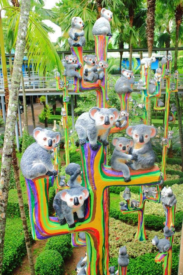 Statua metallica della koala immagine stock libera da diritti