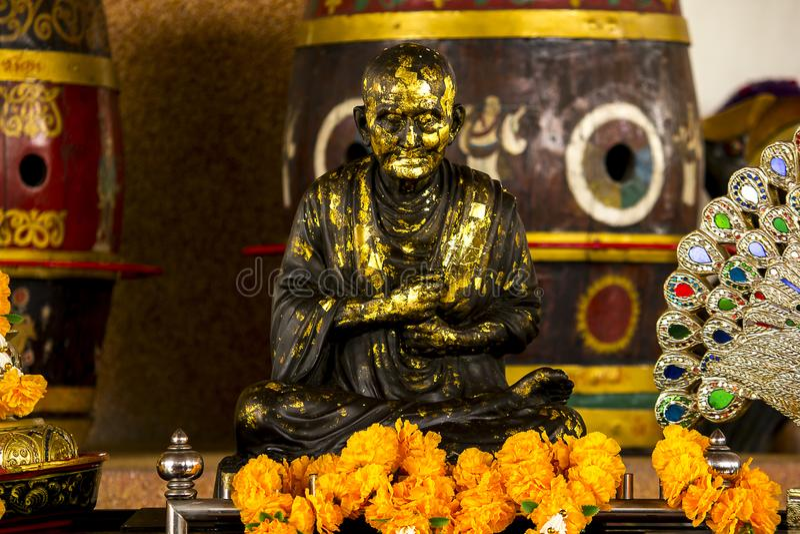 Statua michaelita medytować zdjęcia royalty free
