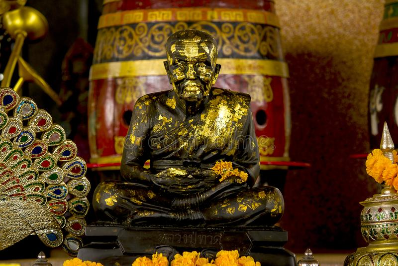 Statua michaelita medytować obrazy stock