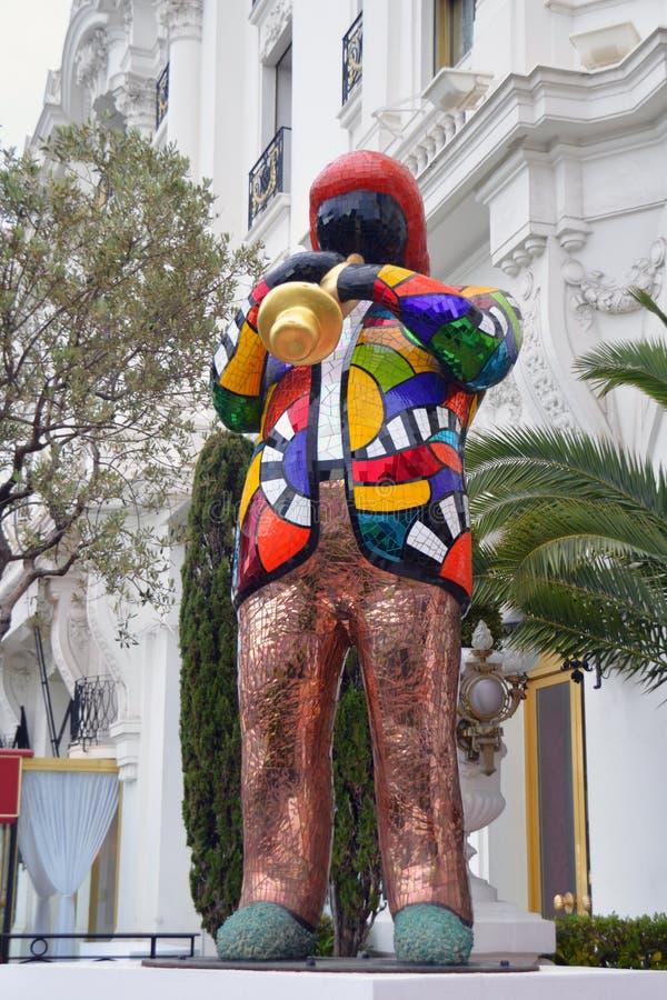 Statua Miles Davis w Ładnym zdjęcia stock
