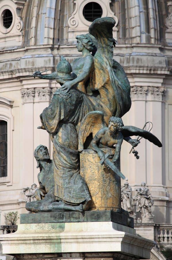 Statua myśl w Rzym obraz royalty free