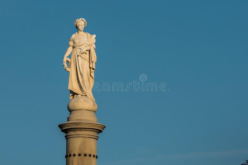 Statua na Soldiers& x27; Krajowy zabytek w Gettysburg zdjęcie stock