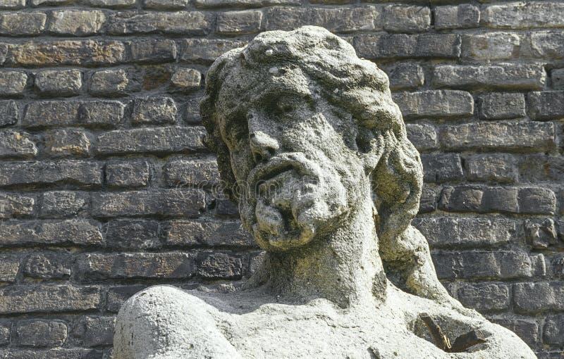 Statua nel Castello Sforzesco immagini stock libere da diritti