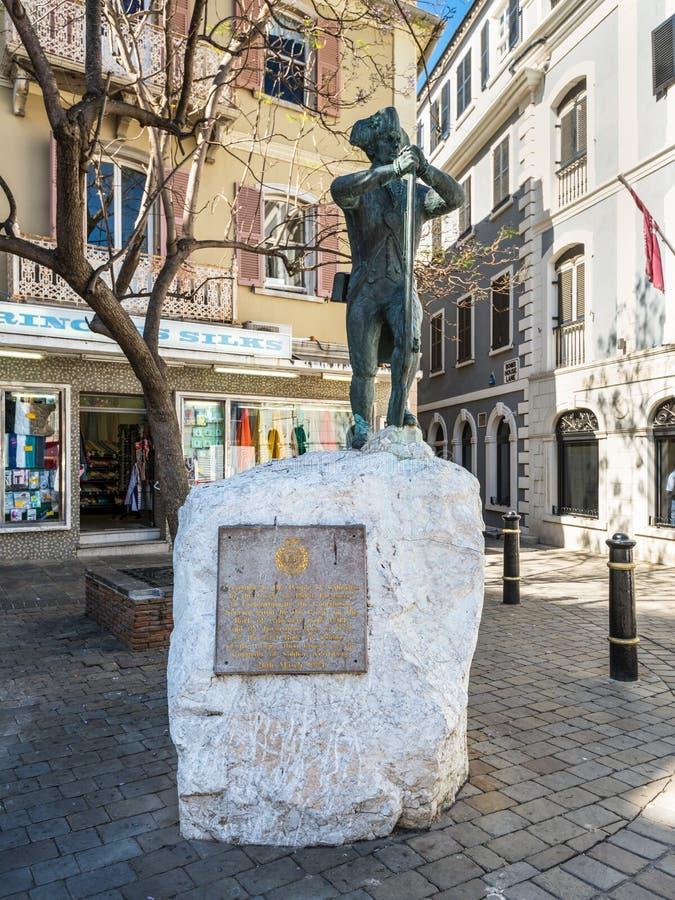 Statua Nelson w Gibraltar zdjęcia stock