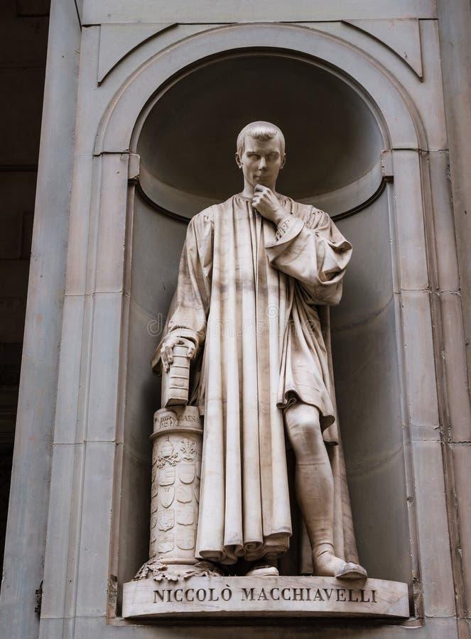 Statua Niccolo Macchiavelli obraz royalty free