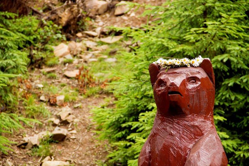 Statua niedźwiedź zdjęcie stock