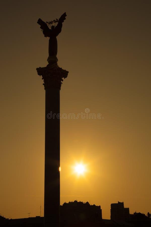 Statua niezależność w majdanu kwadracie, Kyiv zdjęcia royalty free