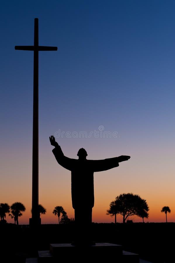 Statua Ojciec Francisco Lopez zdjęcia royalty free