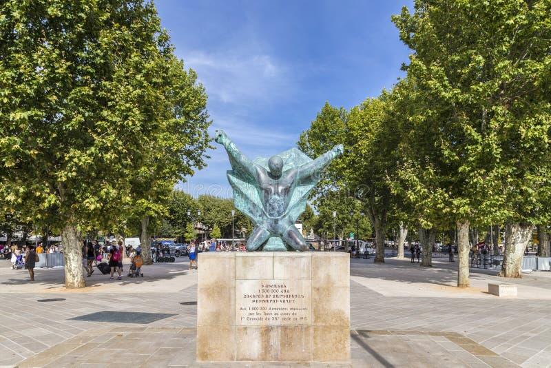 Statua pamiętać masakrę przy armenians turkami obraz stock