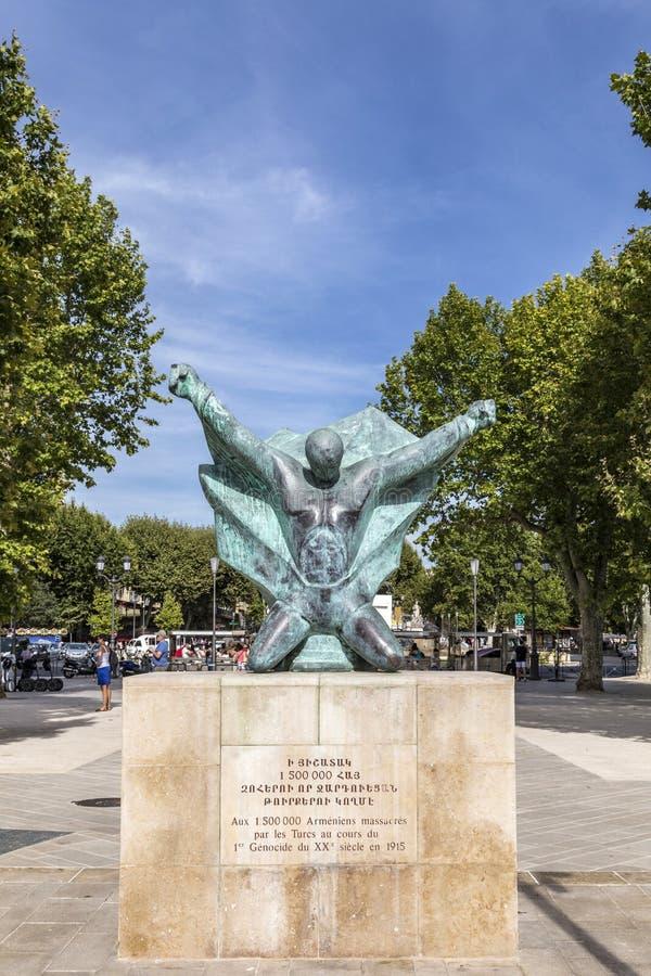 Statua pamiętać masakrę przy armenians turkami zdjęcie royalty free