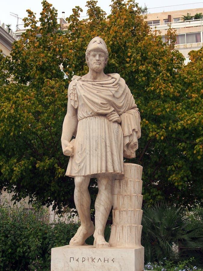 Statua Pericles, Ateny zdjęcie stock