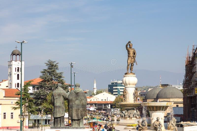 Statua Philip II Macedon, antyczny królewiątko Macedonia zdjęcia royalty free