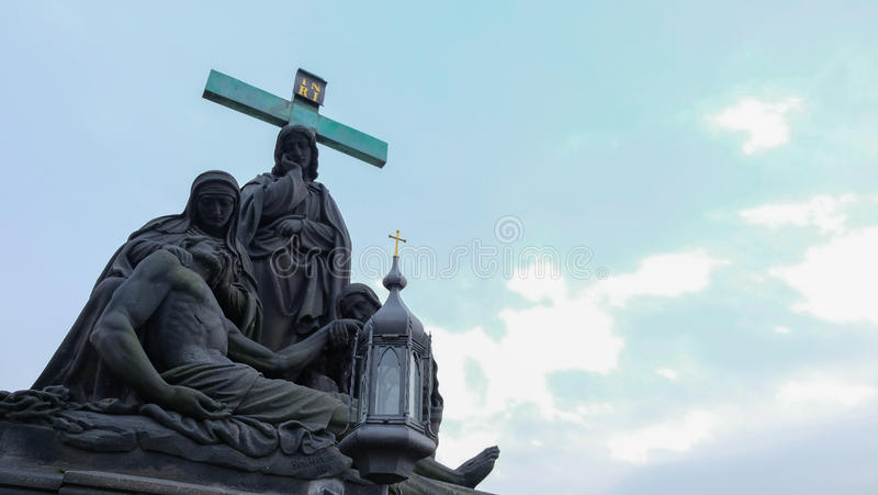 Statua Pietàna Charles moscie, Praga zdjęcia stock