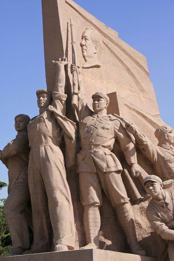 Statua - plac tiananmen - Pekin, Chiny - fotografia stock
