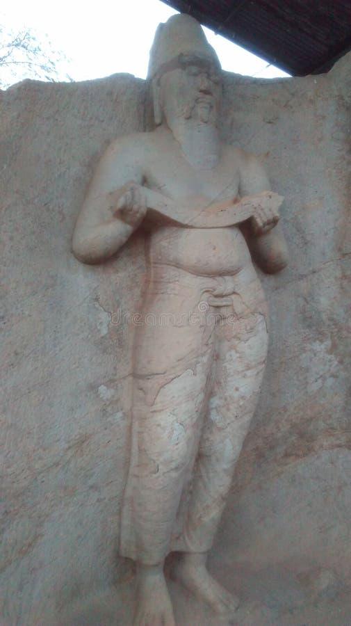 Statua Polonnaruwa Sri Lanka di parakramaba di re immagini stock libere da diritti