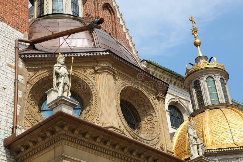 Wawel katedra w Krakow obrazy stock