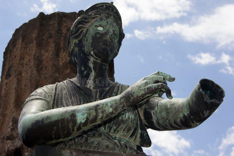 Statua Pompei Włochy fotografia royalty free