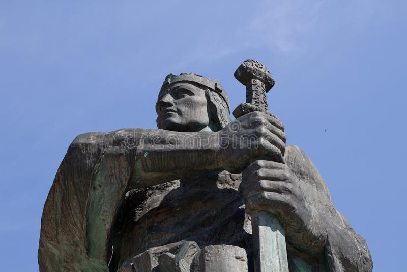 Statua Pribina w Nitra, Sistani fotografia stock