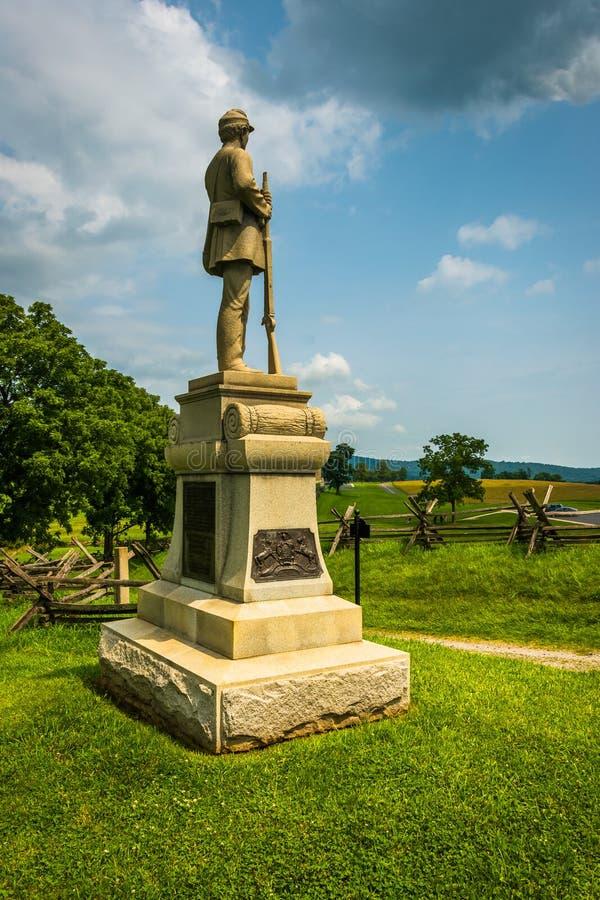 Statua przy Antietam Krajowym polem bitwy, Maryland fotografia royalty free