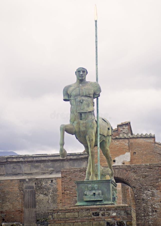 Statua przy Pompei obraz royalty free