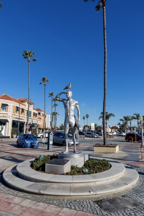 Statua ratownik Ben Carlson w newport beach Kalifornia obrazy royalty free