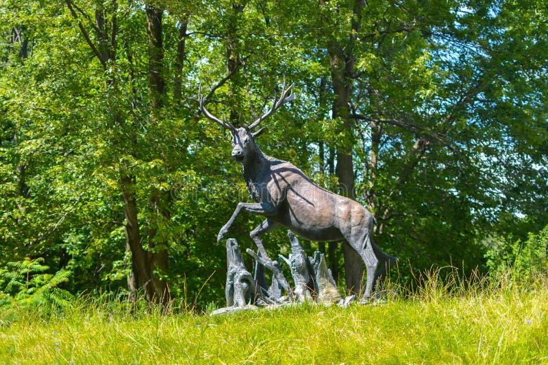 Statua rogacz w parku obraz royalty free