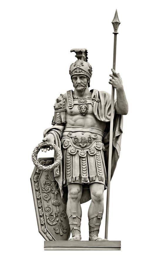Statua Romański bóg wojna Mąci Ares zdjęcia royalty free
