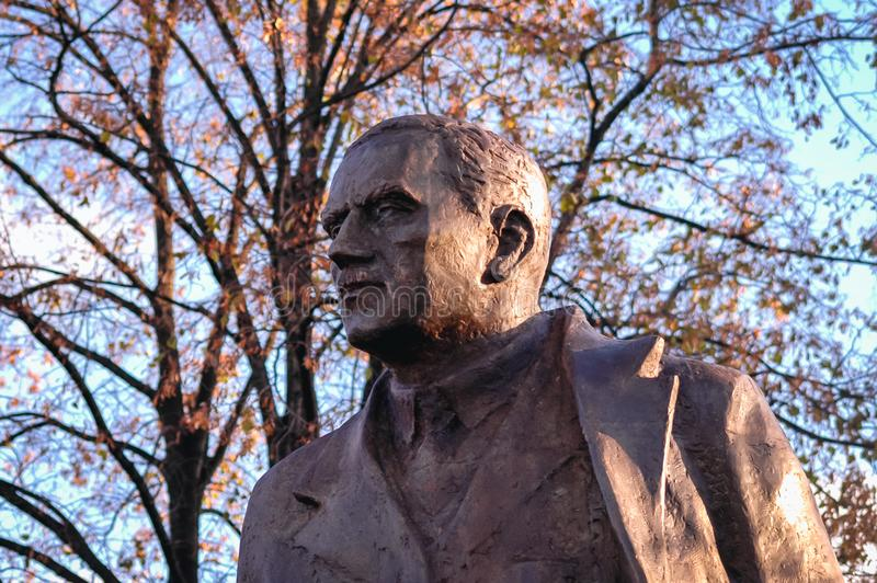 Statua Romański Dmowski zdjęcie royalty free