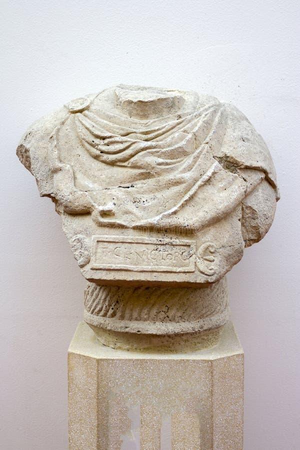Statua romana in Aquincum immagini stock