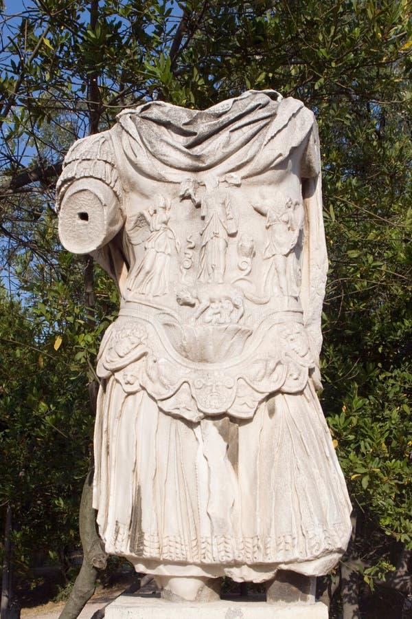 Statua romana in Grecia immagini stock