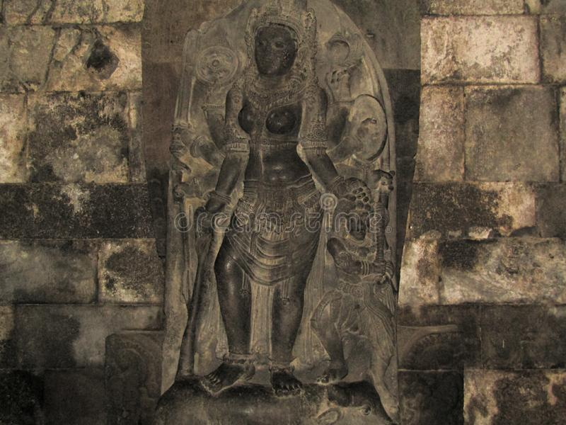 Statua roro jonggrang zdjęcia royalty free