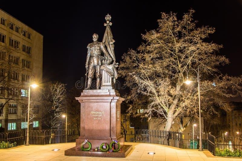 Statua Rosyjski tsar Nicholas II w Belgrade obrazy royalty free