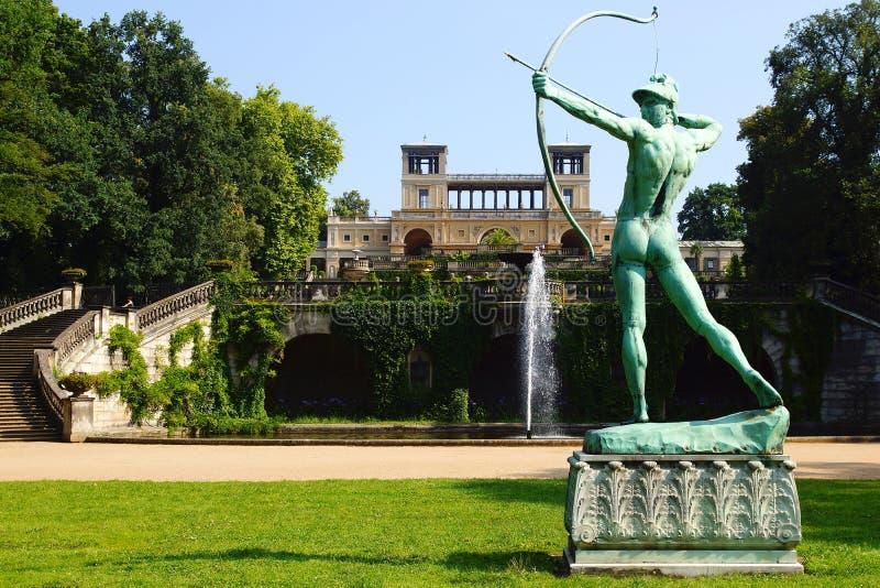 Statua Rtęć w Parku, Sanssouci Pałac zdjęcia royalty free