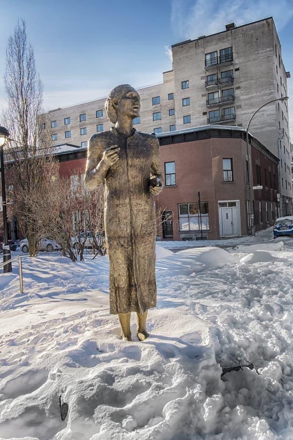 Statua rzeźbiarzem Vasile Gorduz zdjęcie stock