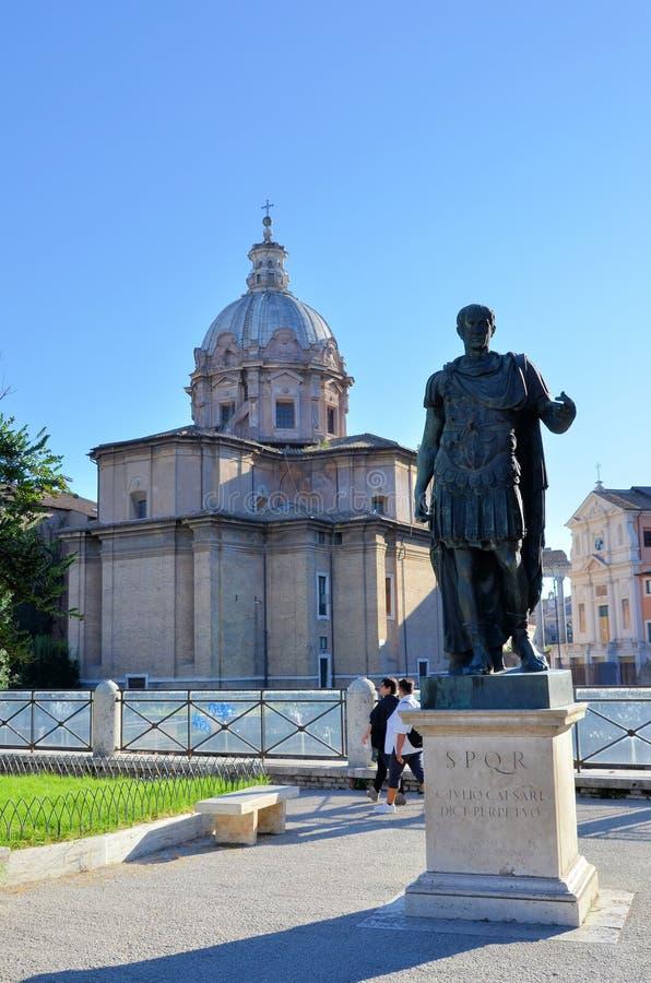 Statua rzymski kościół chrześcijański i cesarz obrazy stock