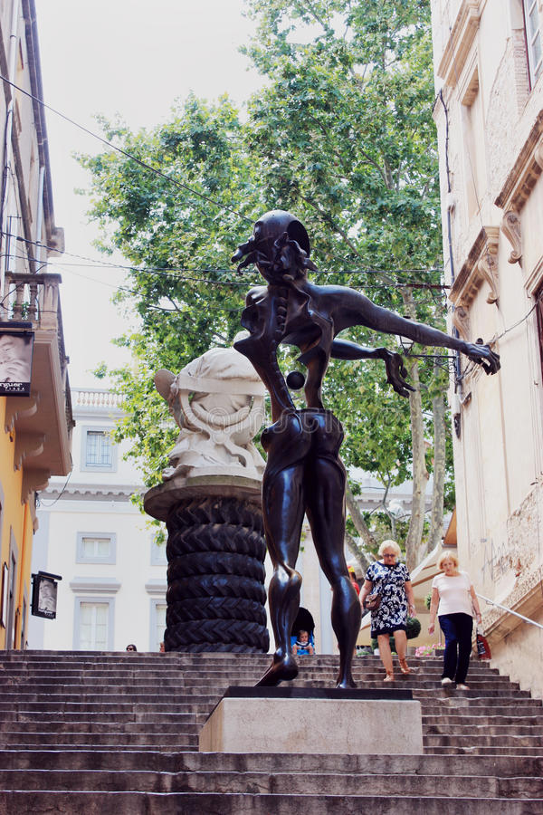 Statua Salvador Dali fotografia royalty free