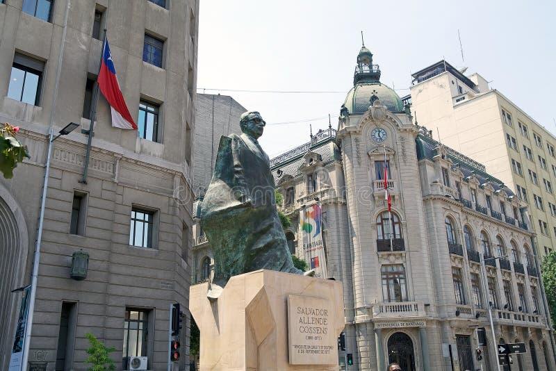 Statua Salvator Allende, Santiago de Chile, Chile zdjęcia stock